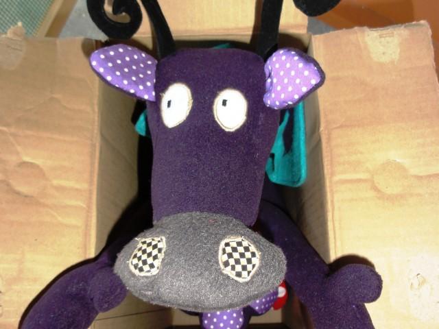 Doudou «Dragon/Vache» prototype pour Manech