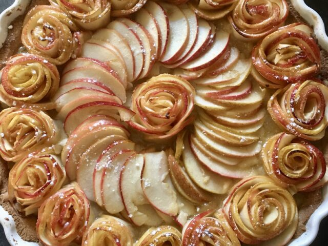 Tarte aux pommes en rosaces