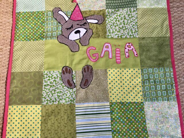 Une jolie couverture pour la naissance de Gaïa, la fille d'un collègue